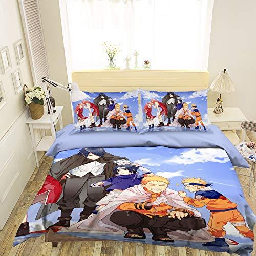AJ WALLPAPER 3D Naruto 651 Japan Anime Game Bettwäsche Kopfkissen, Steppdecke Bettbezug Set Queen King | 3D-Foto Bettwäsche DE Wendy (Einzelne) - Natur Bettbezug Queen