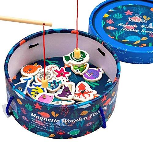 Jaques of London Jeu de pêche magnétique Jouets en Bois Jeu de pêche -- Jouets Parfaits pour Les Tout-Petits Jouets recommandés pour Les Enfants de 2 3 4 Ans