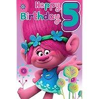 Trolls 5th Happy Birthday Card