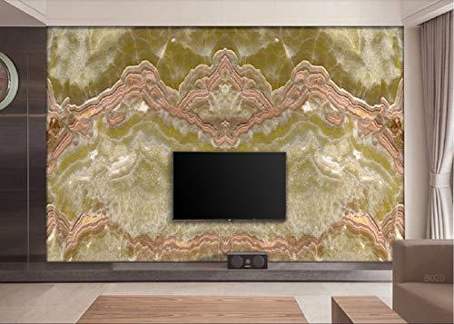 Fototapete 3D Tapete Goldene Jadeite Mustererkennung Marmor Muster 3D Effekt Vliestapete Wandbilder Wanddeko