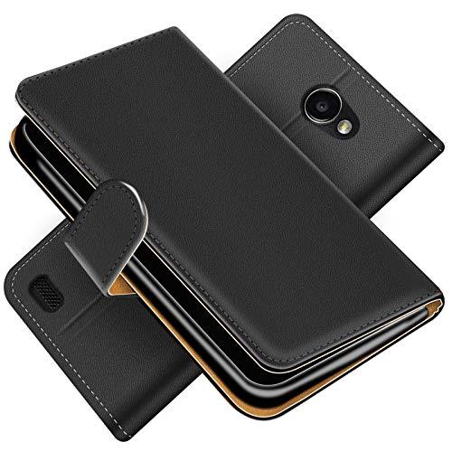 Conie Handytasche für LG Bello 2 Cover Schutzhülle im Bookstyle aufklappbare Hülle aus PU Leder Farbe: Schwarz