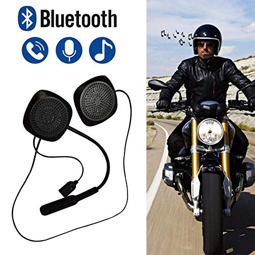 Hellycuche casco moto bluetooth vivavoce auricolare/interfono phone, kit wireless stereo bluetooth 4.2 headset, cuffie e microfoni di, ultra-long standby, vivavoce chiamata