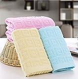 markcur waschlappen Guanto in cotone, 32x 72cm, Asciugamano doccia Panni asciugamani ospite asciugamano da bagno Premium colore blu/rosa/giallo Pink
