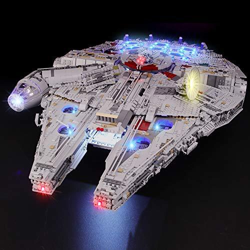 BRIKSMAX Kit de Iluminación Led para Lego Millennium Falcon, Compatible con Ladrillos de Construcción Lego Modelo 75192, Juego de Legos no Incluido