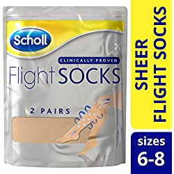 Scholl Sheer Flight Socks, Size 6-8, 2 Pairs