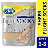 Scholl Sheer Flight Socks, Size 6-8, 2 Pairs