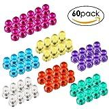 MVPOWER 60 Bunt Magnetpins Stark, Magnetische Push Pins Magnete Pins für Whiteboards Kühlschränke