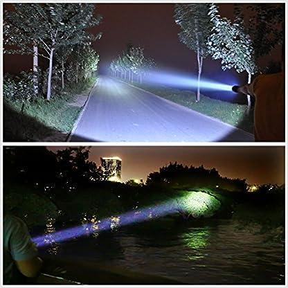 Ambertech Rechargeable 7000 Lumens Super Bright LED Searchlight Spotlight Flashlight Torch Lantern With Sharp Light 7