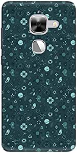 The Racoon Grip printed designer hard back mobile phone case cover for LeEco Le Max 2. (birdie flo)