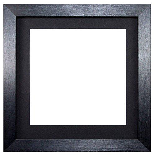 Instagram-Platz 3-D Instagram Quadrat Bilderrahmen/Foto -/Posterrahmen mit maßgeschneidertem Ständer - mit Rückwand aus MDF- bereit zum Aufhängen - aus bruchsicheren Plexiglas aus Styrol für hohe Klarheit - Schwarz mit maßgeschneidertem Ständer - 5'x5' for 4'x4' pictures