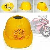 FAVOLOOK Casco de seguridad con energía solar, gorra de ventilación dura con ventilador de refrigeración, color amarillo para exteriores