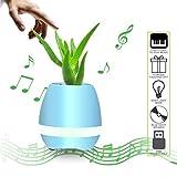 ALAMP Musik Blumentopf Wireless Bluetooth-Lautsprecher Touch Pflanzen Gittare mit LED Licht
