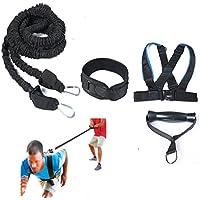 HemeraPhit cinturón arnés de entrenamiento de velocidad resistencia banda cintura cinturón agilidad entrenamiento chaleco Set