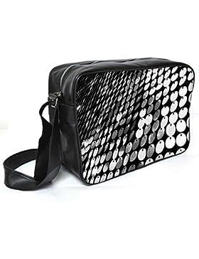 Snoogg mehrere Disc Leder Unisex Messenger Bag für College Schule täglichen Gebrauch Tasche Material PU