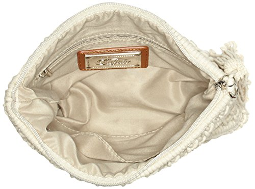 Buffalo Damen Bag S017-269 Textile Clutch, 2x21x26 cm Beige (Cream)