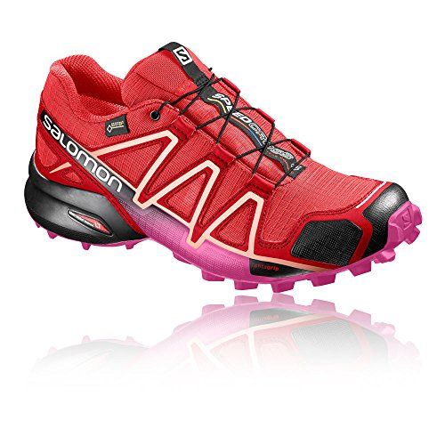 Salomon Speedcross 4 Gtx W, Écharpe De Trail Running Donna Red