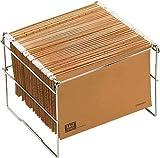 OP Solutions Archivador- soporte carpetas colgantes, plegable para tamaño folio y A4, en metal cromado, 360 x 398 x300 mm