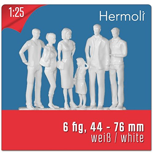 6-model-figures-white-unpainted-scale-125-approx-g-scale