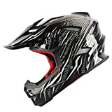 #6: THH motocross capacete lightweight full face helmet DH MTB off road motorbike dirtbike helmets IXS FY helmet T42 - Black & Silver - L