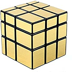 Lootcart Golden Mirror Cube, Magic Mirror Cube, Speed Cube in Irregular Shaped Puzzle (Train Your Brain)