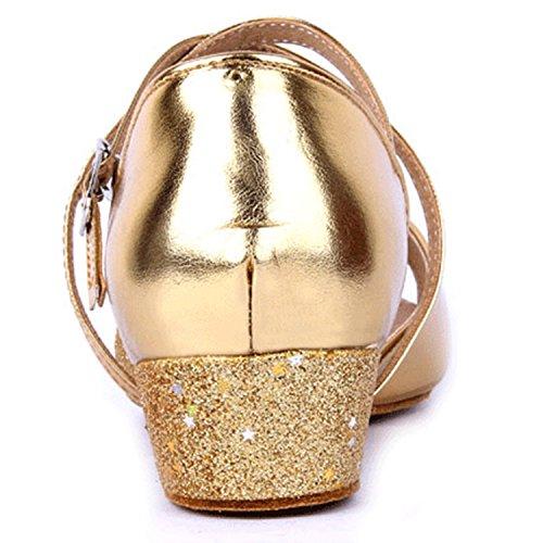 Oasap Open Toe Cross Strap Latin Dance Shoes Fuchsia