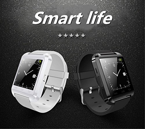 Bluetooth Smart Sports WatchTouch Screen Smartwatch Phone Unlocked Watch Cell Phone Waterproof PedometerMen Women Kids Boys Wristwatch B