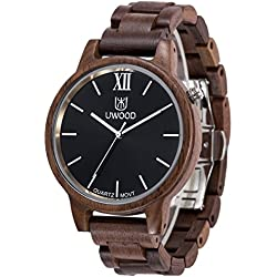 And Comfortable Men's Watch Environmentally Friendly Hand Made with 100% natural walnut