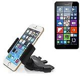 K-S-Trade Für Microsoft Lumia 640 XL Dual-Sim LTE CD Schlitz Halterung Autohalterung KFZ-Halter Radio Handy Halterung für Microsoft Lumia 640 XL Dual-Sim LTE 360° Drehbar DVD-Schacht
