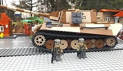 ? Bausteine Panzer Jagdtiger VI inkl. Modbrix custom Minifiguren Wehrmacht Soldaten - Cobi Upgrade 2484 ? von Modbrix