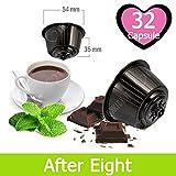 32 Capsule After Eight Cioccolato e Menta Compatibili Nescafè Dolce Gusto