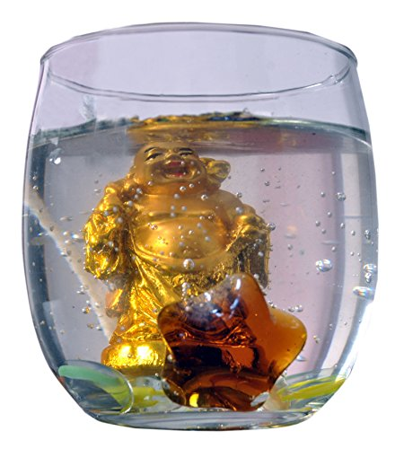 Preisvergleich Produktbild Kuddu Kreations Dekoratives lachendes Buddha Gel Kerze Geschenk 50 Stunden Burn Time