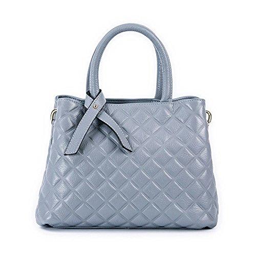 Mefly Women'S Schulter Schultertasche Tasche Damen Leder Linen blue