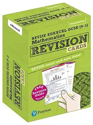 REVISE Edexcel GCSE (9-1) Mathematics Foundation Revision Cards: includes FREE online Revision Guide (REVISE Edexcel GCSE Maths 2015) from Pearson Education