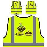 Alles Gute Zum Geburtstag Mops Personalisierte High Visibility Gelbe Sicherheitsjacke Weste r782v