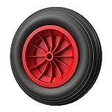 PU Rad Ø 350 mm 3.50-8 Reifen Ersatzrad pannensicher (schwarz/rot) (1)