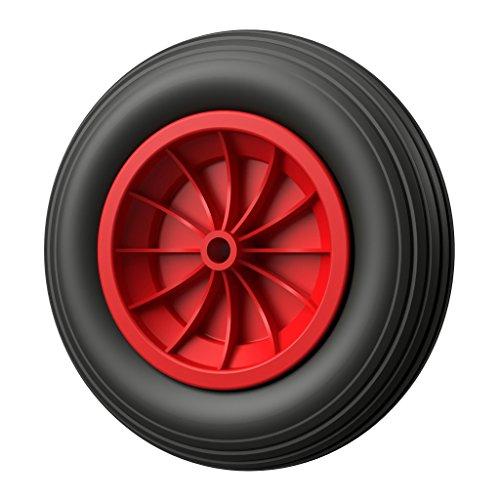 TITAPS Pneu anti-crevaison en polyuréthane de 350mm de diamètre - Noir/rouge, 1