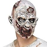 NET TOYS Gruselige Zombiemaske Zombie Latexmaske Gruselmaske Bestie Halloweenmaske Untoter