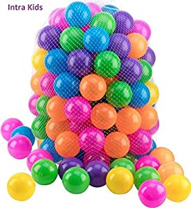 Intra Kids Multi color Baby Balls Genuine Quality Set of 55 balls - 7.5 cm (50)