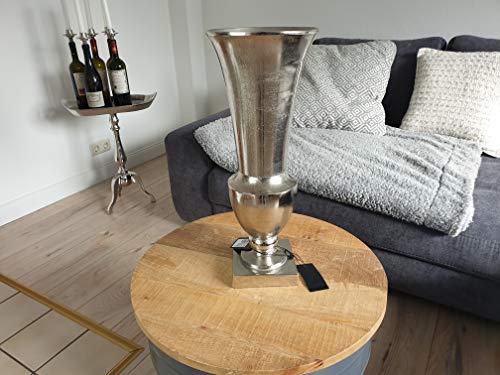 Colmore ALU massiv Vase 20x52 Amphore Rund Silber Raw Pokalvase Pflanzschale