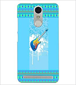PrintDhaba Guitar D-3555 Back Case Cover for LENOVO K5 NOTE (Multi-Coloured)