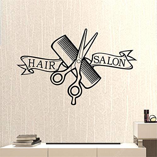 lyclff Friseursalon Friseur Aufkleber Schere Clipper Friseursalon Aufkleber Neutral Haarschnitt Poster VinylWanddekor 37 * 58 cm - Violet Wand Beleuchtung