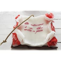 Composizione di candele in cera libro piccolo con frase o dedica personalizzabile cm 20 x 23 x 8 regalo per nozze e matrimonio compleanno anniversario laurea inaugurazione