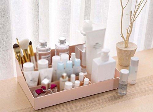 QCBC Kosmetik Aufbewahrungsbox Dresser Store Box Desktop Plastik Schreibwaren Skincare Finishing Box (Eishockey Maske Glow)
