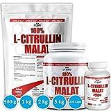 L-CITRULLIN - Malat Pulver, Powder oder Kapseln - Tablette, Vegan, Hohe Reinheit, steigert Ausdauer und Leistungsfähigkeit, hochdosiert, hergestellt in Deutschland, 500g und 1000g (100 - Kapseln)