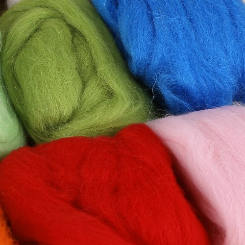 Filznadeln trocken filzen Filznadelhalter Filznadeln Griff mit 12 Farben Filzwolle für Trockenfilzen Starterset Basteln DIY