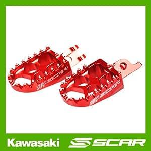 REPOSE CALE PIEDS EVOLUTION KAWASAKI KX-F KXF 250 450 KX250F KX450F ROUGE SCAR RACING