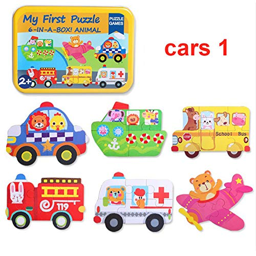 Domeilleur Cartoon Puzzle Board Jigsaw Toys Brain Teaser Wooden Durable For Children Kids Baby