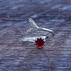 Bottled Up Designs Recycelte Jahrgang 1940 rote Bierflasche Meerjungfrau Ring aus Sterling Silber