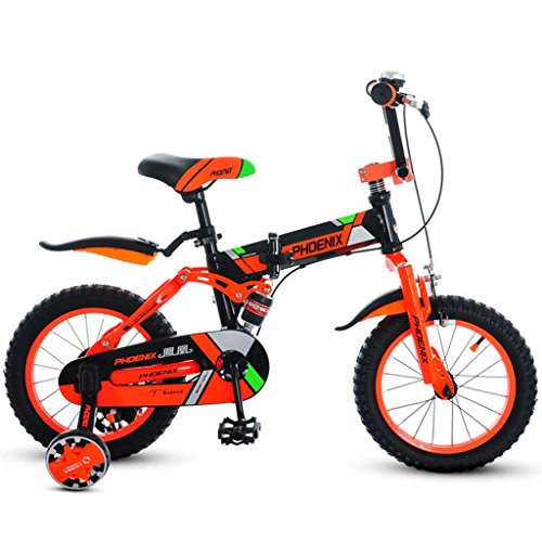 Unbekannt Great Kinder Faltrad Jungen Fahrrad 3-12 Jahre altes Mädchen Kinderwagen Kinder Mountainbike (Energy A++) (Farbe : B, größe : 18 inches)