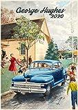 Calendario da parete 2020 [12 pagine 20,3 x 27,9 cm] vita quotidiana anni Cinquanta illustrazione vintage sabato sera post da George Hughes